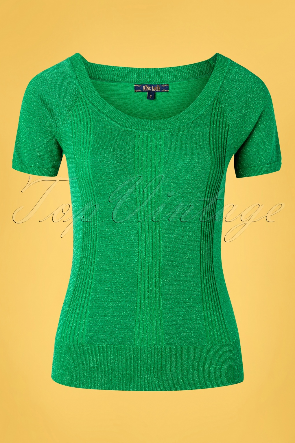 60s Shirts, T-shirt, Blouses, Hippie Shirts 60s Boatneck Lapis Top in Very Green £50.79 AT vintagedancer.com