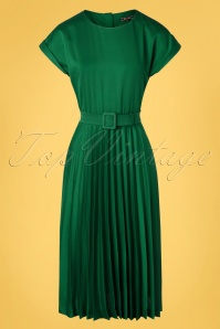 King Louie  31784 Betty Plisse Dress Weekender in Peacock Green 20191202 002W