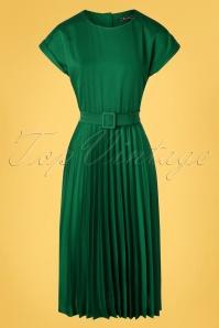 King Louie  31784 Betty Plisse Dress Weekender in Peacock Green 20191202 002W