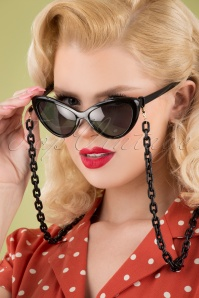 Darling Divine 33418 Link Chain Sunglasses Black 042M W