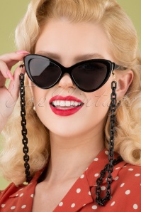 Darling Divine 33418 Link Chain Sunglasses Black 041M W