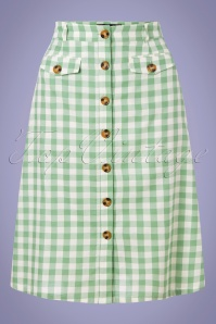 60s Caroll Legend Skirt in Island Green