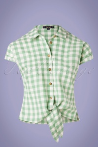 King louie 31697 Knot Blouse Legend Island Green20191209 005W