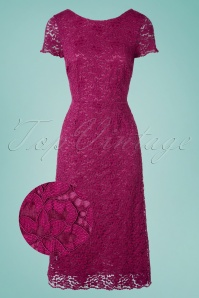 King Louie  31783 Sally Dress Malaga Sparkling Fuschia 20191202 002Z
