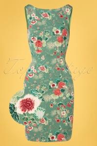 King louie 31742 Alma Dress Miyako Spar Green20191209 002Z