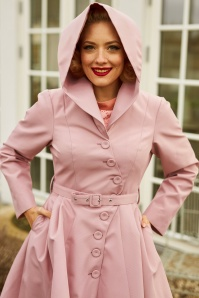 MissCandyfloss 33302 Lorin Helio Swing Trench Coat in Old Rose 20200130 021L