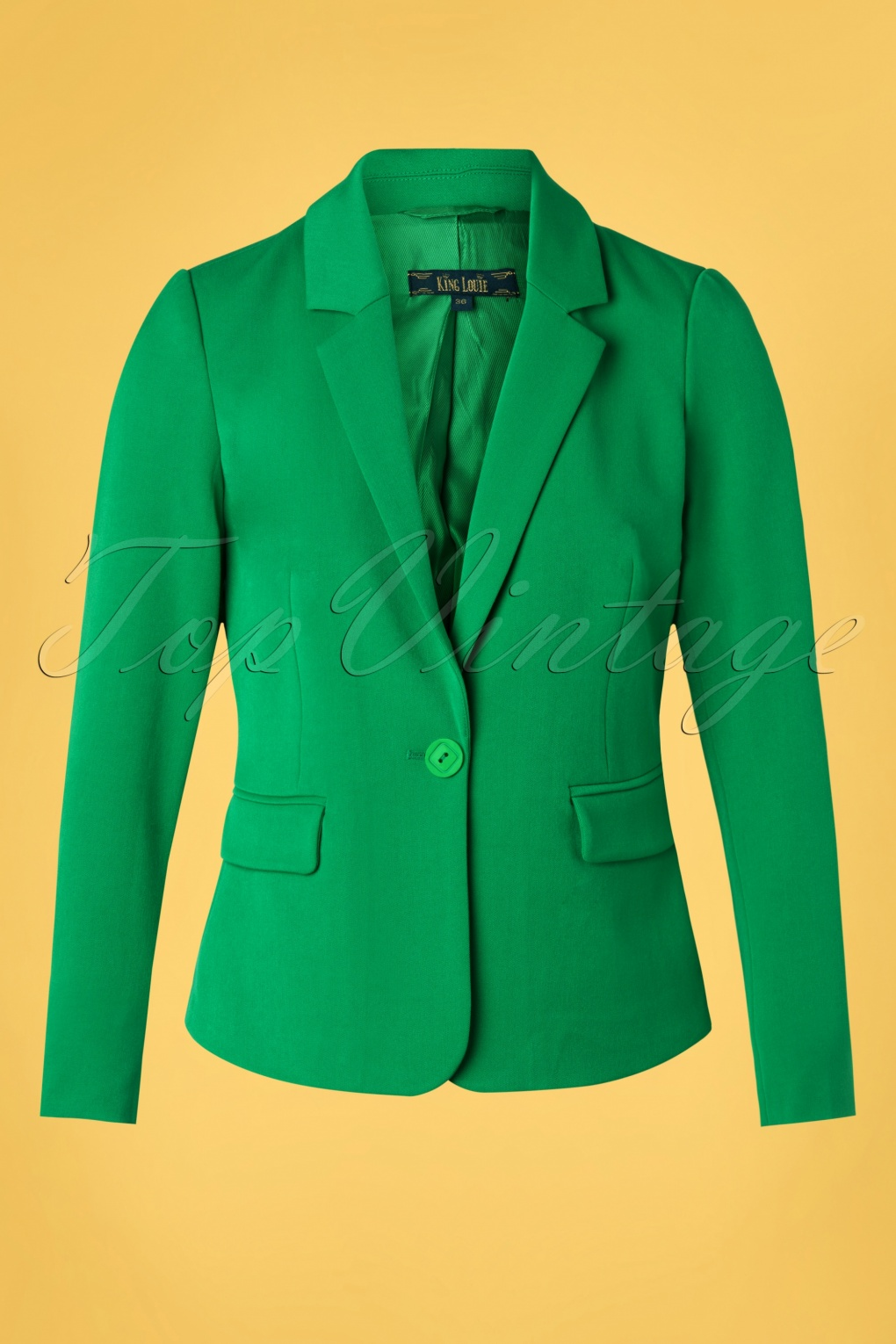 1960s Style Dresses, Clothing, Shoes UK 60s Daisy Broadway Blazer in Very Green £101.62 AT vintagedancer.com