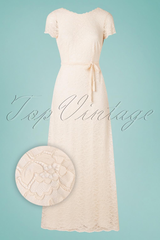 60s Wedding Dresses | 70s Wedding Dresses 70s Sally Dentelle Wedding Dress in Petal Pink £265.34 AT vintagedancer.com