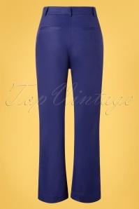 King Louie 31701 Pants Highwaist Sturdy Blue 20191210 007W