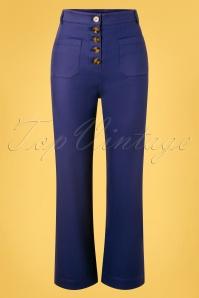King Louie 31701 Pants Highwaist Sturdy Blue 20191210 003W