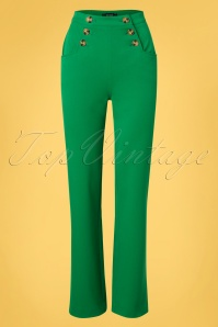 King Louie 31679 Sailor Broadway Pants in Very Green 20191213 0020W