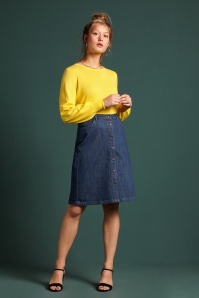 KingLouie 31669 Angie Skirt Organic Denim in Blue 20200130 020L