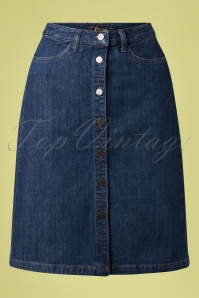 King Louie 31669 Skirt Angle Blue Denim 01302020 003W