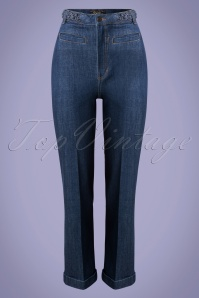 King Louie 31671 Trousers Garbo Cropp Blue Denim 01302020 002W