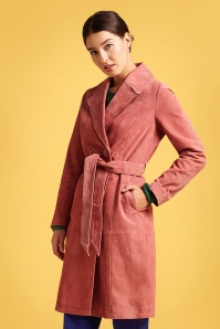 KingLouie 31704 Mia Coat Suede in Dusty Rose 20200130 020L W