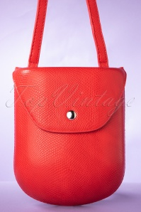 Essentials Only Shoulderbag Années 60 en Rouge
