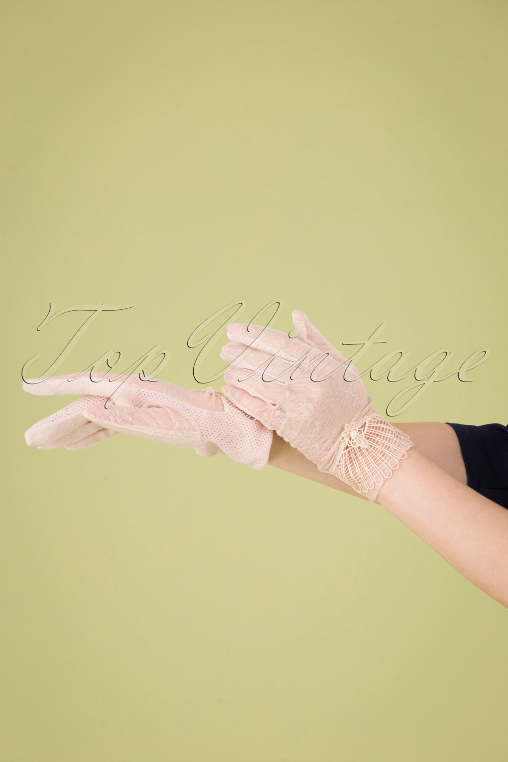 Vintage Style Gloves- Long, Wrist, Evening, Day, Leather, Lace 40s Deco Mesh Wrist Gloves in Dusty Pink £26.98 AT vintagedancer.com