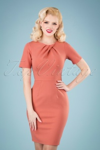 Closet London 33337 Apricot Body Con Dress Pink 200117 040M W