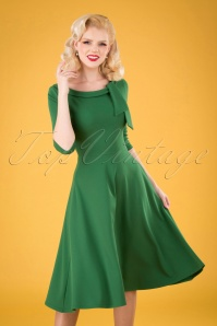 Vintage Chic 33343 Scuba Crepe Fit Flare emerald20200106 040MW