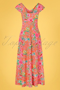 Lien Giel 31427 Maxidress Floral Peach 02032020 009W