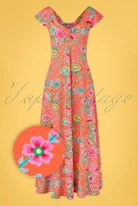 Lien Giel 31427 Maxidress Floral Peach 02032020 004Z
