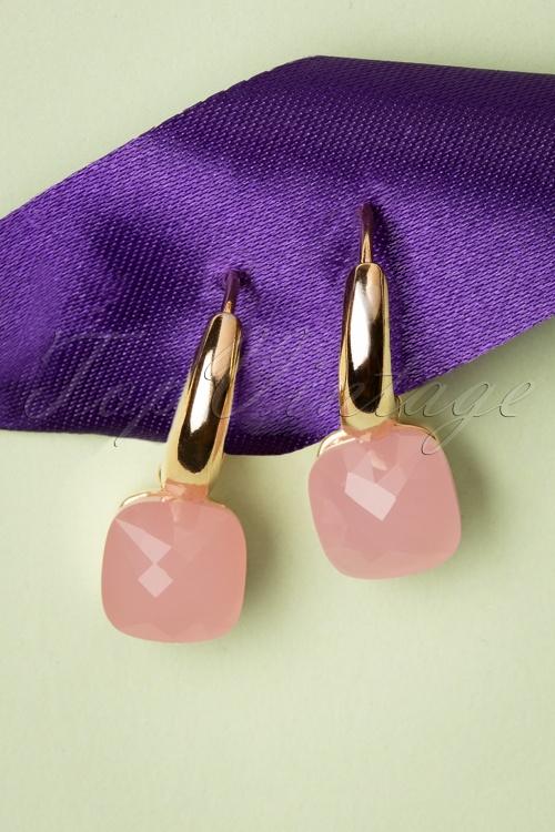 Glamfemme 33538 Pink Earrings Gold 200131 007 W