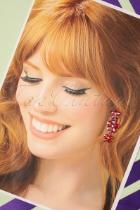 Glamfemme 33550 Red Hangers Studs Earrings 200131 006 W