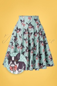 Belsira 33439 Swingskirt Blue Polkadots Dogs 02032020 007Z