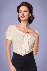 Belsira 33438 Vintage Shirt with Loop in Beige 20200203 020L