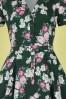 Collectif 32182 Caterina Vintage Bloom Swing Dress Green 20191030 023LW
