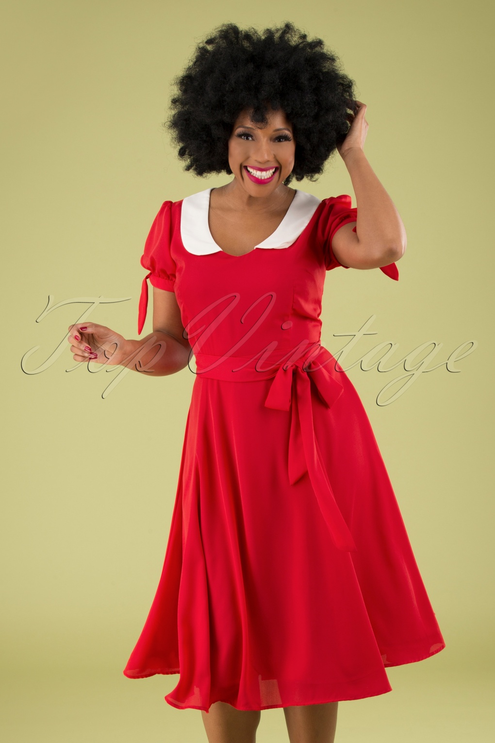 500 Vintage Style Dresses for Sale | Vintage Inspired Dresses 50s Mirella Swing Dress in Red £70.15 AT vintagedancer.com