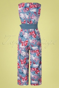 Paper Dolls 32544 Jumpsuit Floral Blue Bow 02032020 016W