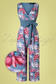 Paper Dolls 32544 Jumpsuit Floral Blue Bow 02032020 010Z