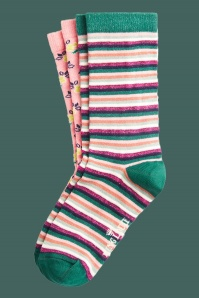 KingLouie 31766 Socks 2 pack Savannah Granny Pink 20200130 022LW