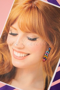 Glamfemme 33547 Multi Colour Earrings Studs 200131 007 W