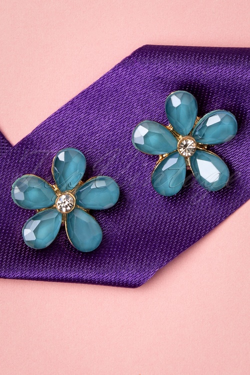 Glamfemme 33549 Ocean Studs Blue Earrings 200131 006 W