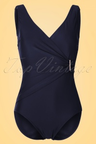 Marc & André Paris 50s Vivienne Swimsuit in Navy