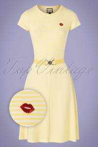 Mademoiselle YéYé 31946 Alijn Dress OhYeah Yellow 20200204 003Z