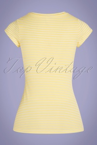 Mademoiselle YéYé 31957 T shirt Casual Elegance Stripes Yellow 20200204 007W