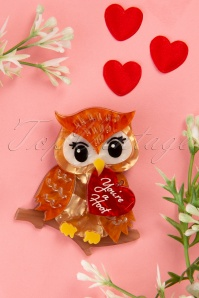 Erstwilder TopVintage exclusive ~ 60s You're a Hoot Brooch