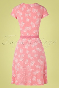 Mademoiselle YéYé 31945 Aline Dress OhYeah Pink 20200204 007W