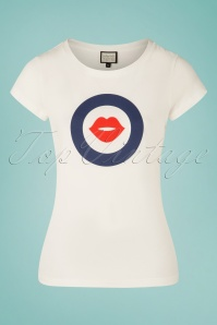 60s With Kisses T-Shirt in White