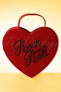 Bina Heart Bag Années 50 en Rouge