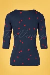 Mademoiselle YéYé 31954 T shirt Good Times Navy 20200204 007W