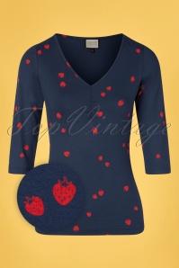 Mademoiselle YéYé 31954 T shirt Good Times Navy 20200204 002Z