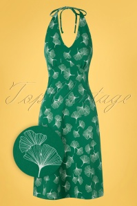 Mademoiselle YéYé 31949 Aline Dress Be Bop Baby Green 20200204 001Z