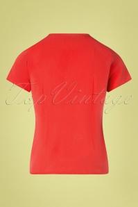 Mademoiselle YéYé 31962 Blouse Tres Bien Red 20200204 008W