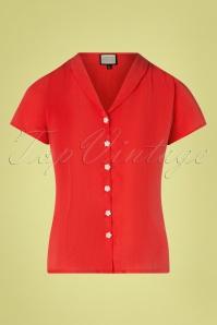 Mademoiselle YéYé 31962 Blouse Tres Bien Red 20200204 003W