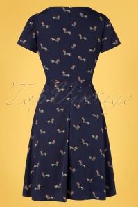 Yumi 32949 Aline Dress Sausage Dog Navy 20200204 005W