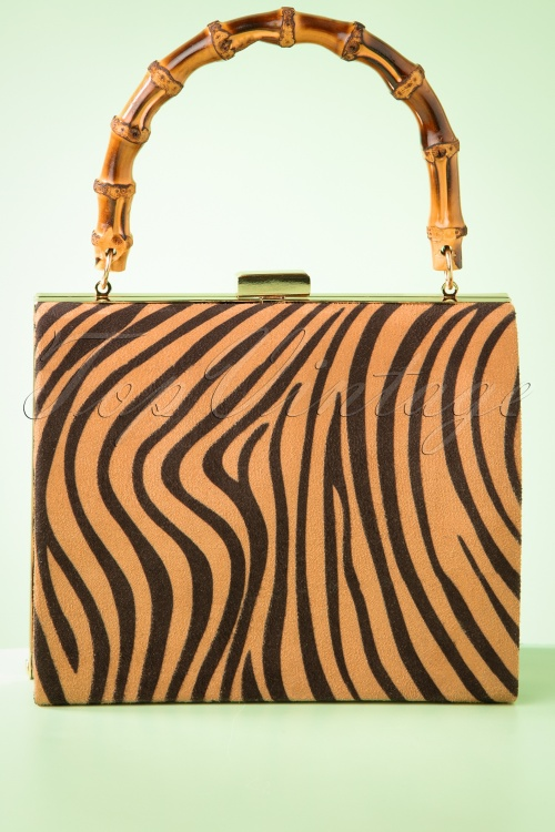 Darling Divine 33399 Handbag Zebra Bamboo Velvet 01292020 009W